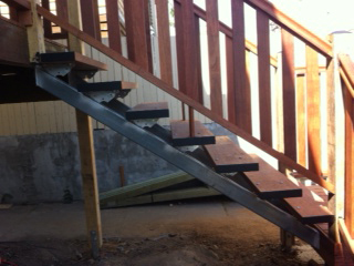 Stair Stringers and House Columns